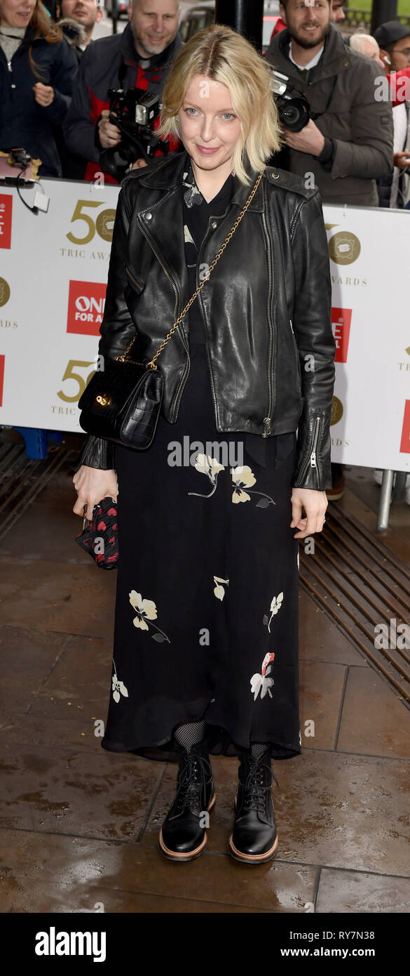 Photo Must Be Credited ©Alpha Press 079965 12/03/2019 Lauren Laverne at The Tric Awards 50th Anniversary 2019 held at The Grosvenor House Hotel in London - Stock Image