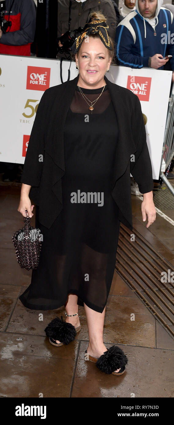 Photo Must Be Credited ©Alpha Press 079965 12/03/2019 Lorraine Stanley at The Tric Awards 50th Anniversary 2019 held at The Grosvenor House Hotel in London - Stock Image