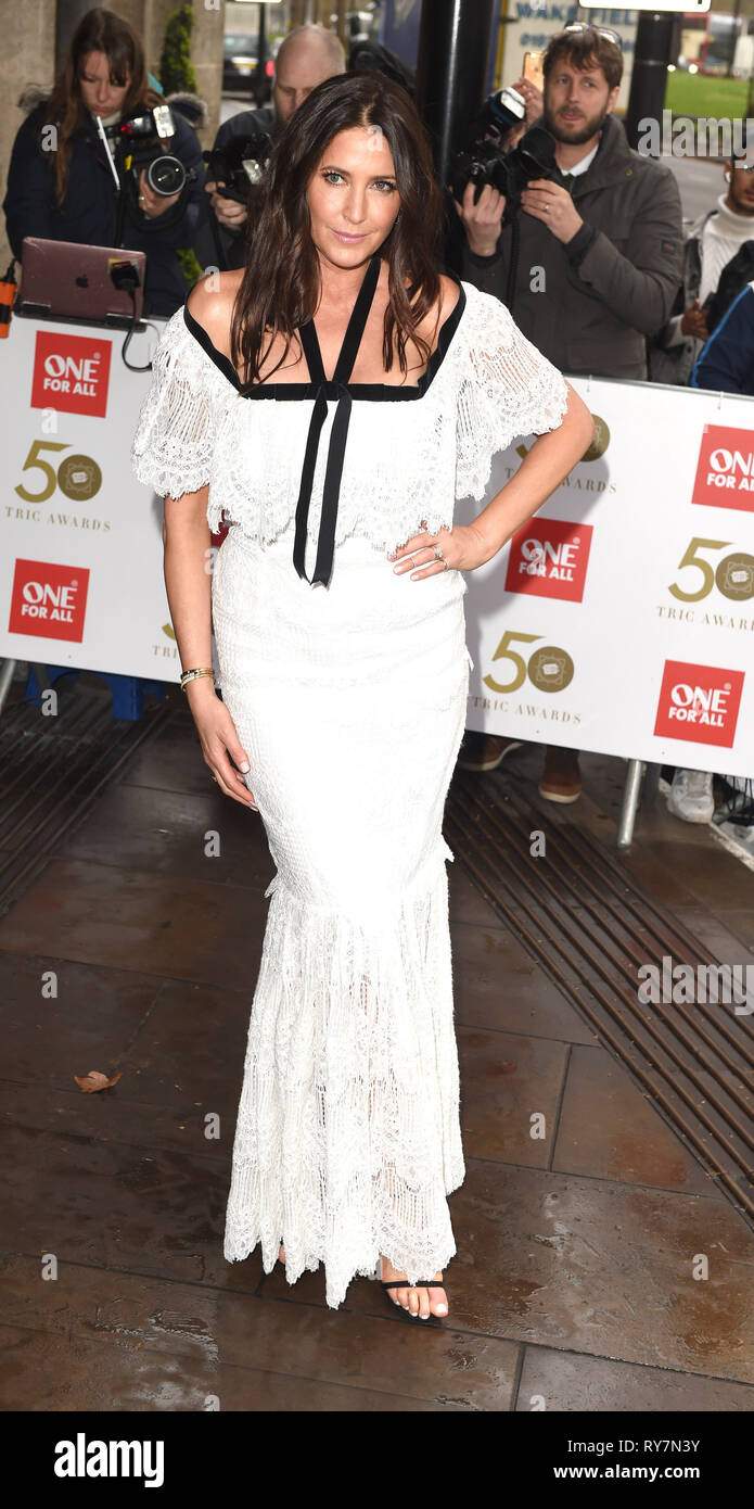 Photo Must Be Credited ©Alpha Press 079965 12/03/2019 Lisa Snowdon at The Tric Awards 50th Anniversary 2019 held at The Grosvenor House Hotel in London - Stock Image