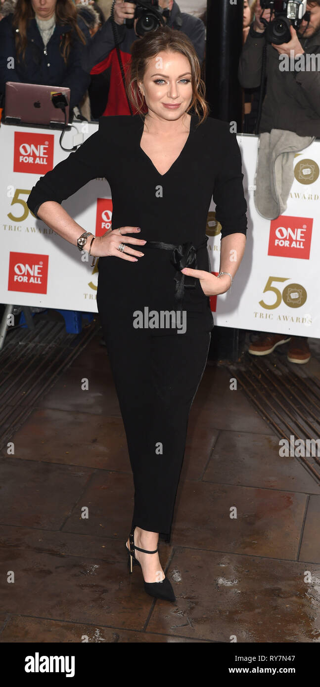 Photo Must Be Credited ©Alpha Press 079965 12/03/2019  Rita Simons at The Tric Awards 50th Anniversary 2019 held at The Grosvenor House Hotel in London - Stock Image