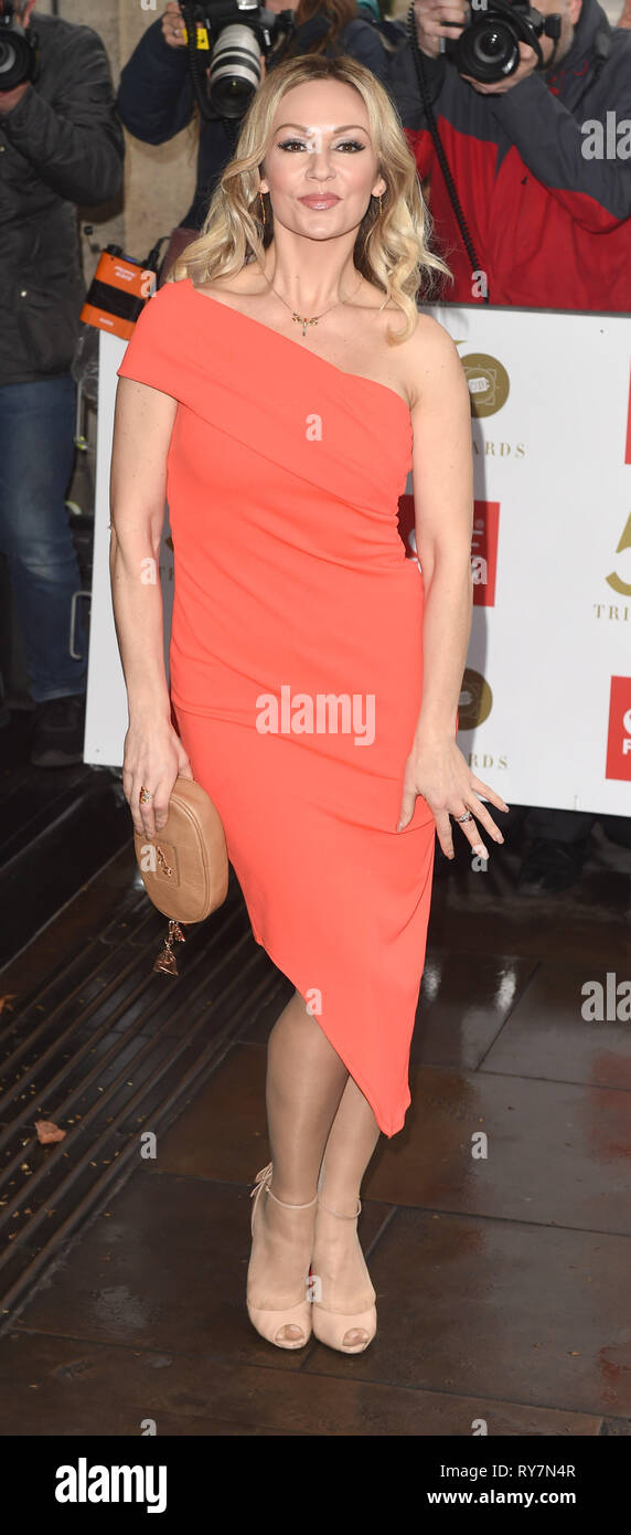 Photo Must Be Credited ©Alpha Press 079965 12/03/2019 Kristina Rihanoff at The Tric Awards 50th Anniversary 2019 held at The Grosvenor House Hotel in London - Stock Image