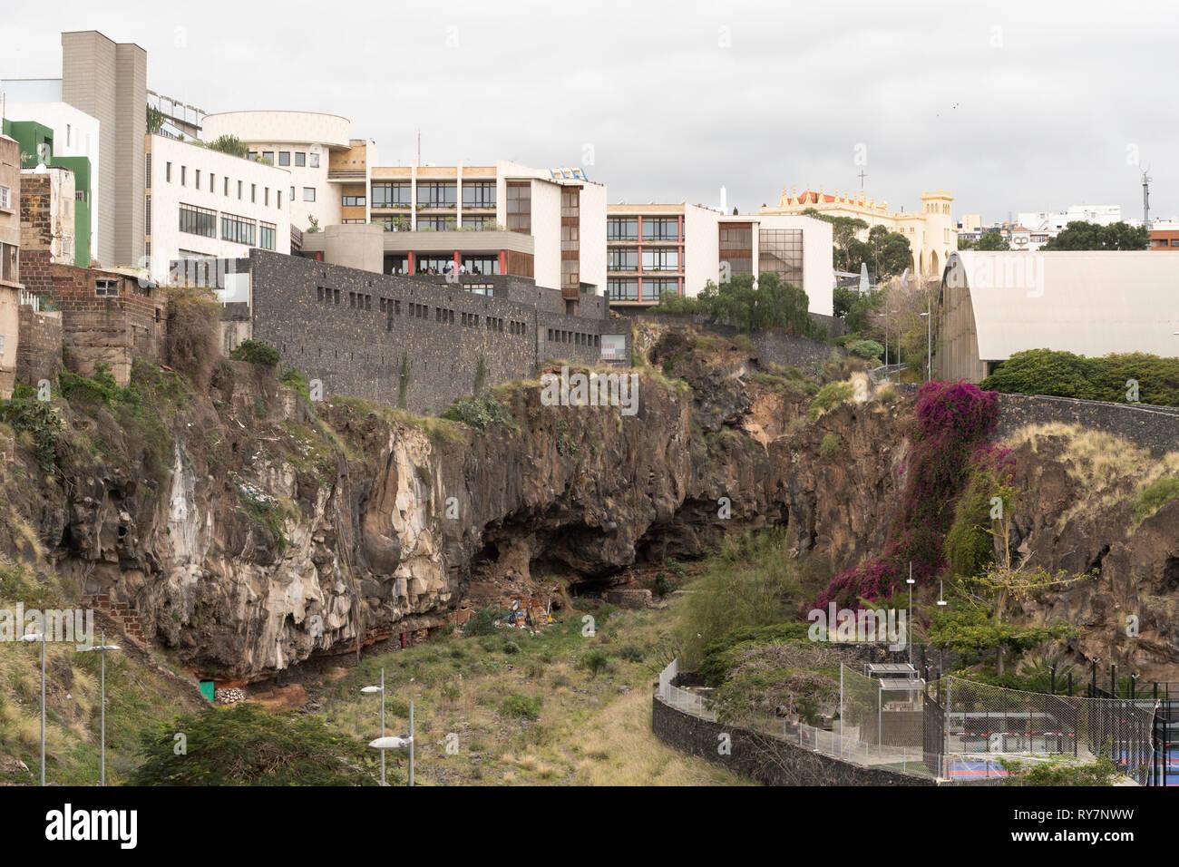 The Barranco de Santos, a gorge running through the centre of Santa Cruz de Tenerife, Tenerife, Canary Islands Stock Photo