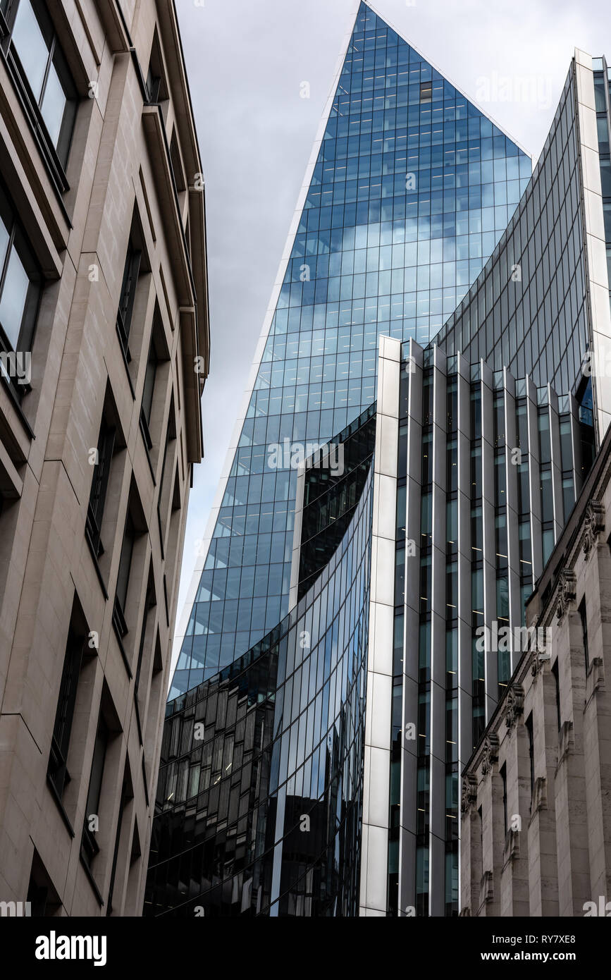 The 'Scalpel' and Willis Building stacked on top of each other in the rush skywards - Stock Image
