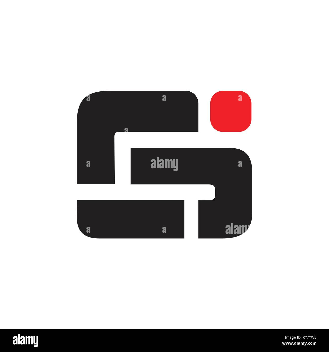 Abstract Letter Ig Simple Geometric Logo Vector Stock Vector Image Art Alamy