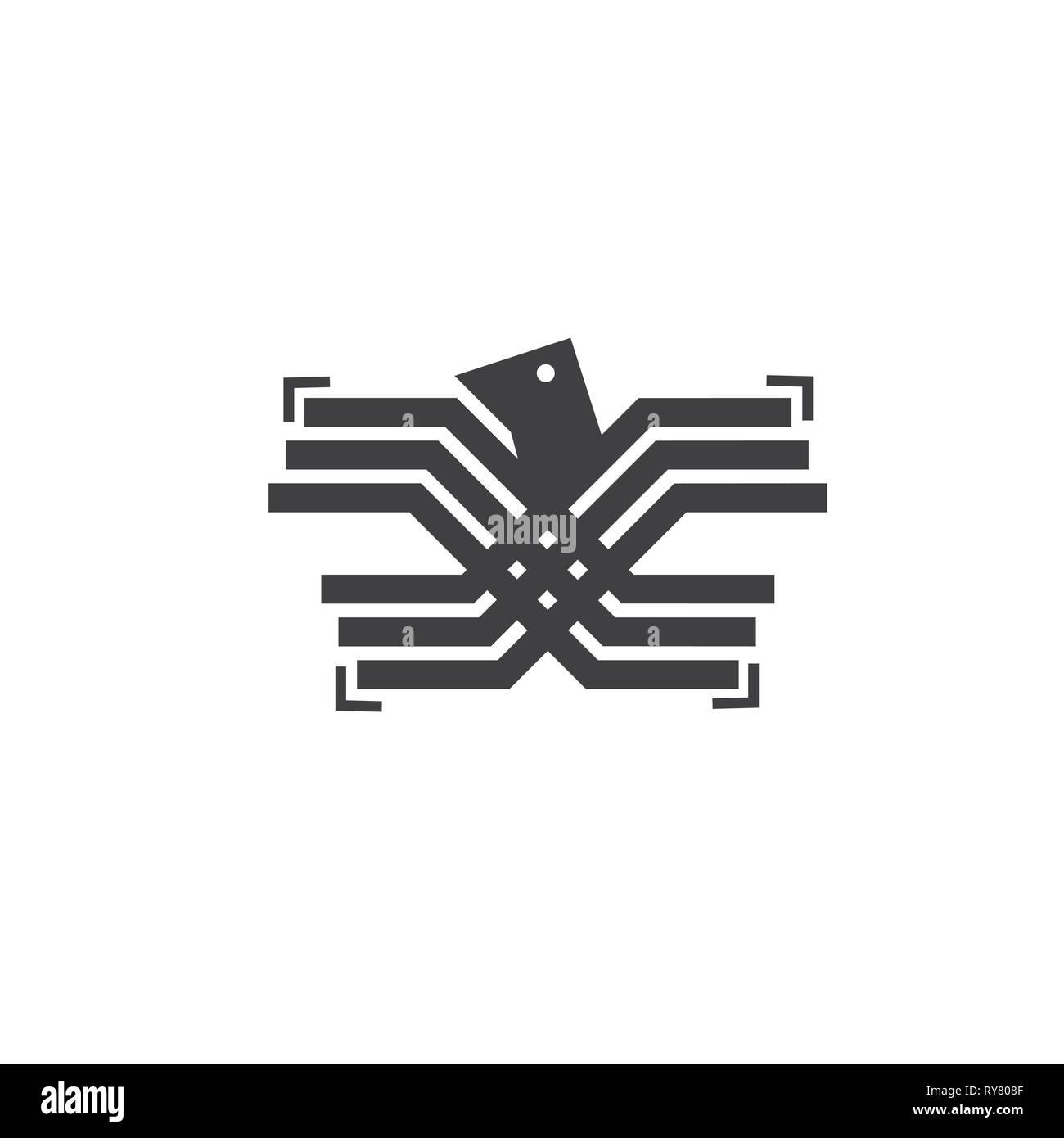 stripes eagle wings simple logo vector stock vector image art alamy https www alamy com stripes eagle wings simple logo vector image240506351 html