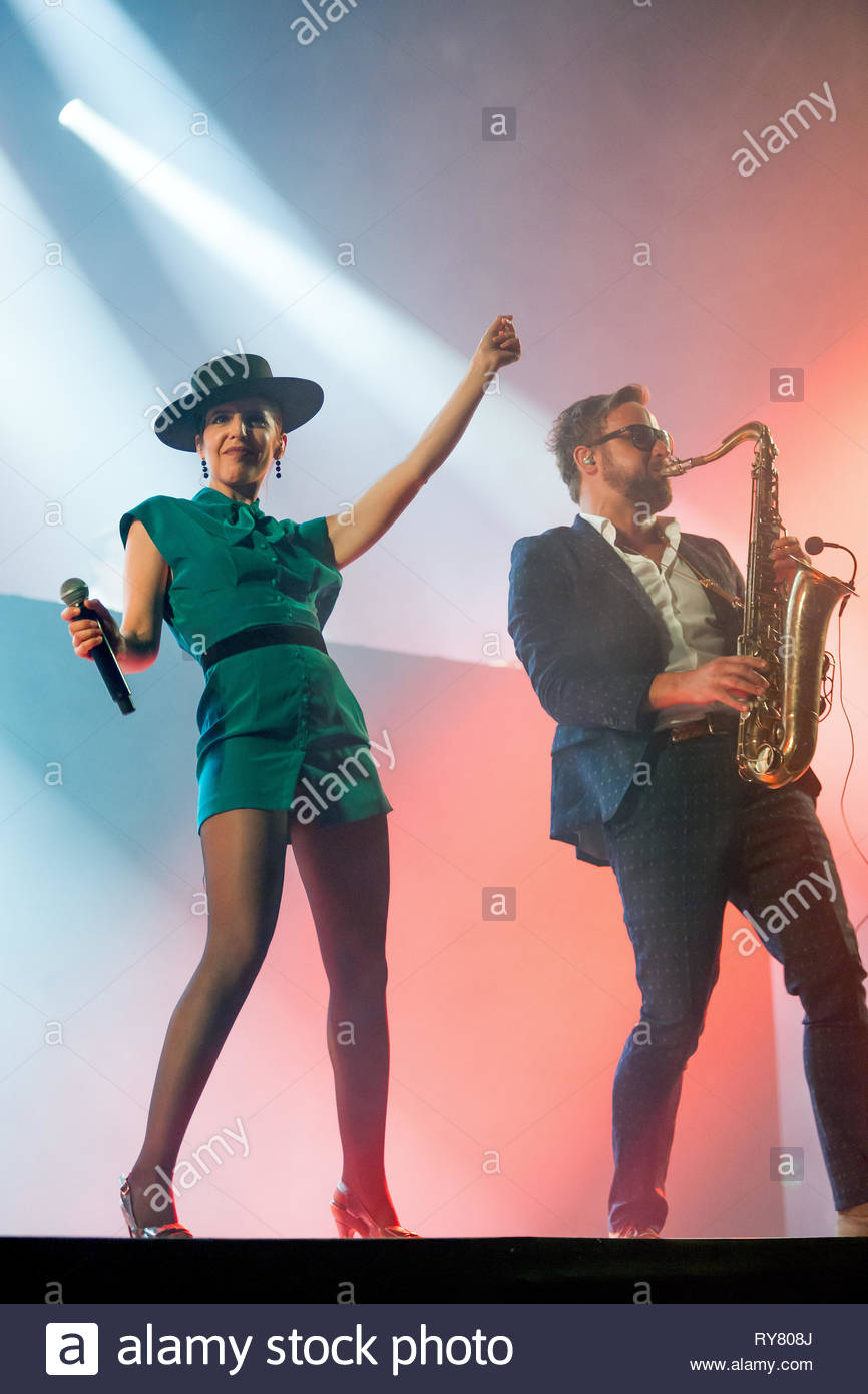 THE PAROV STELAR BAND performing live at Musilac summer festival, 10 july 2015 Stock Photo