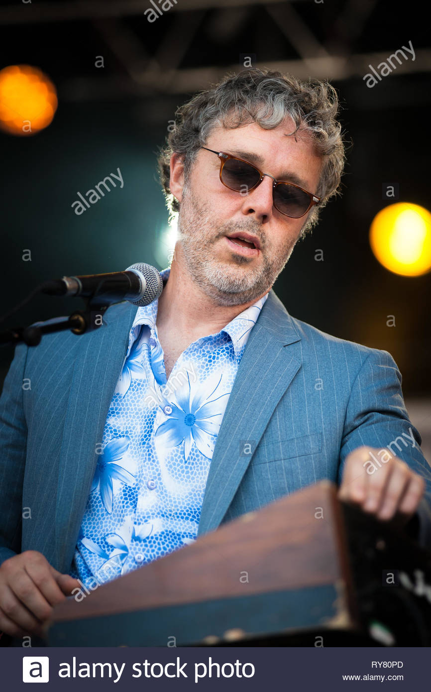BAXTER DURY performing live at Musilac summer festival, 11 july 2015 Stock Photo