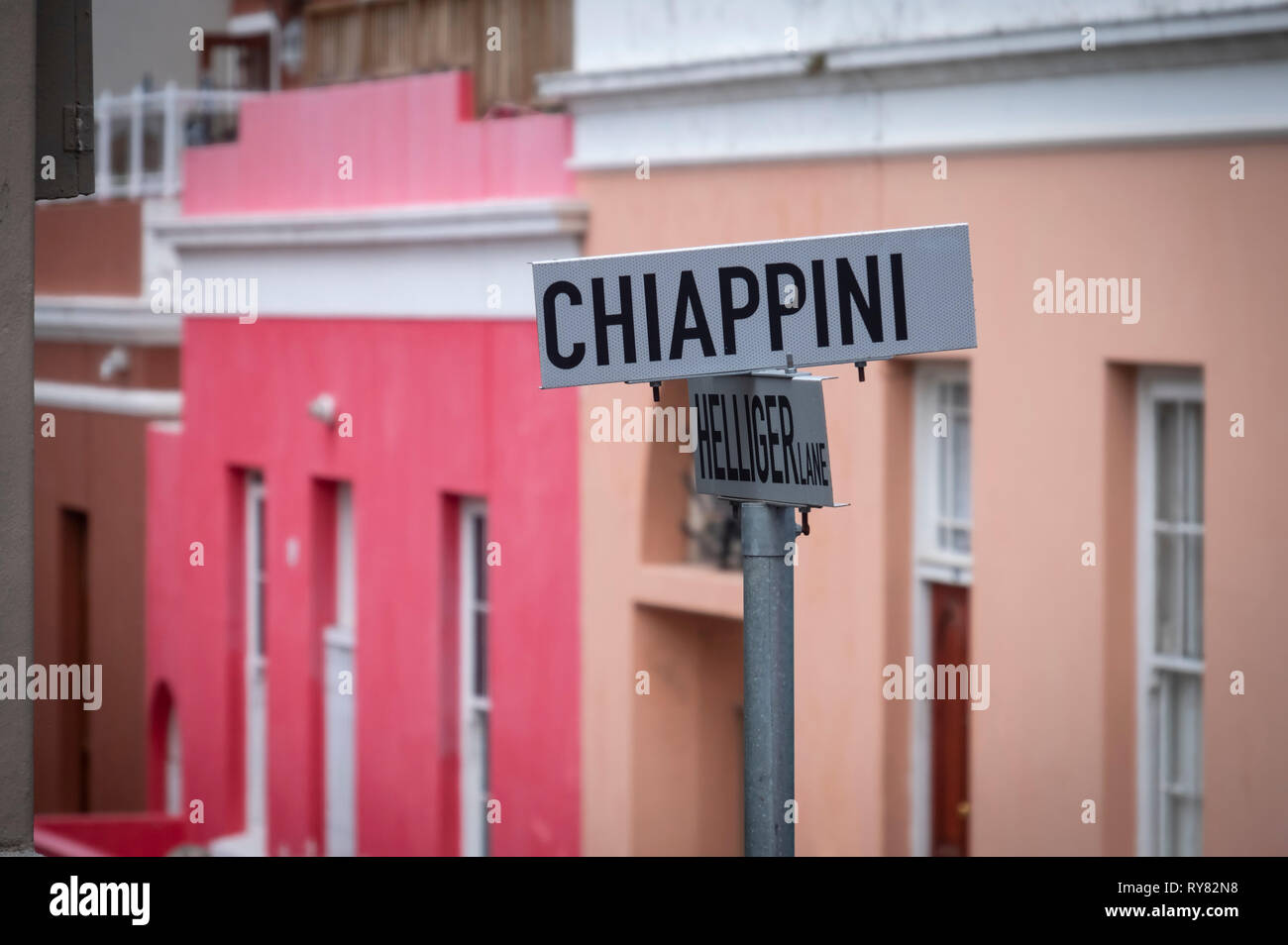 Street Sign in Bo Kaap, Cape Town, Western Cape, South Africa - Stock Image