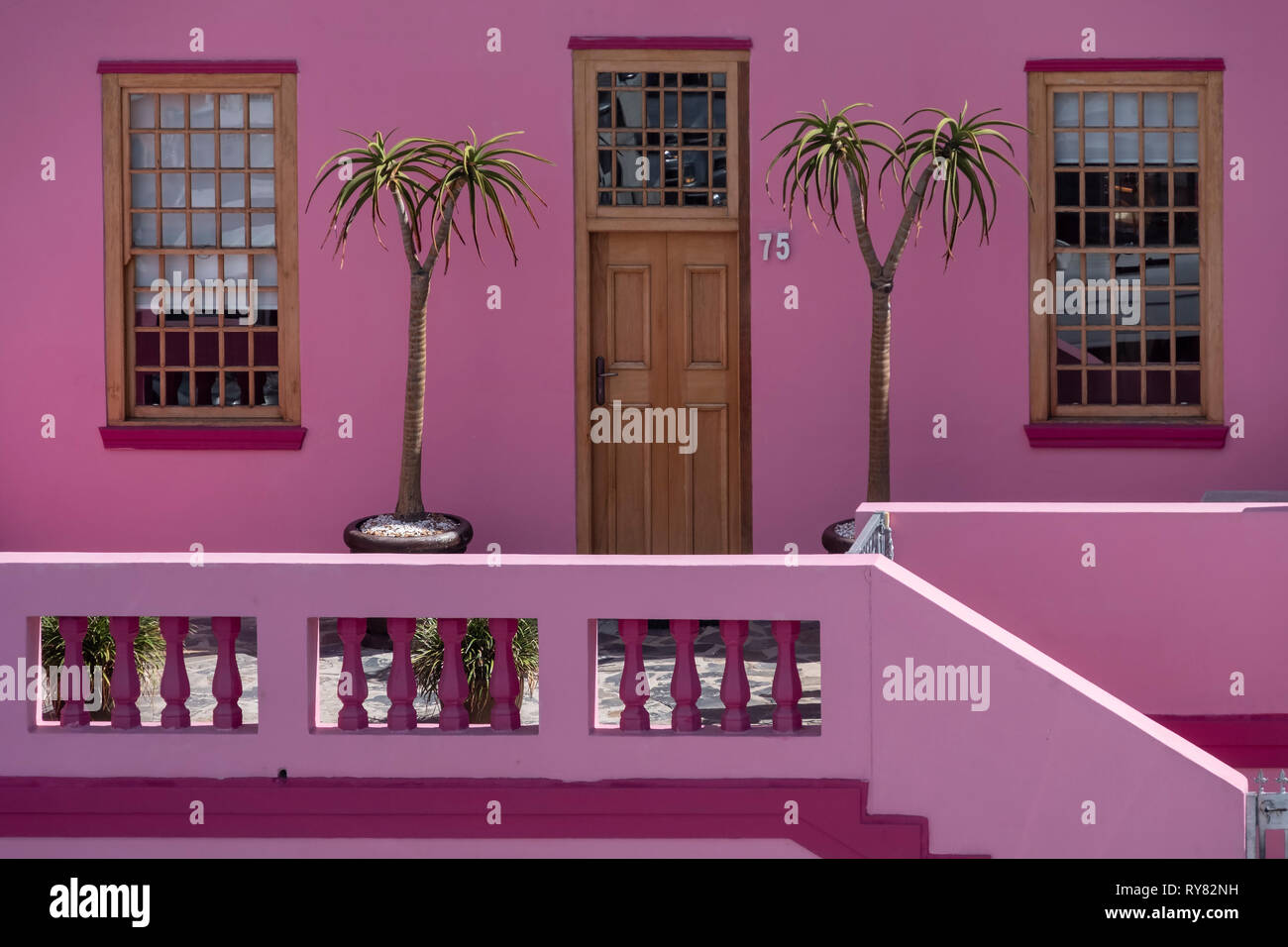 Colourful House detail in Bo Kaap, Cape Town, Western Cape, South Africa Stock Photo