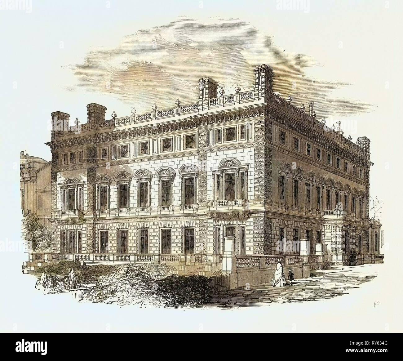 Bridgewater House, Architect, Charles Barry, Esq., R.A - Stock Image
