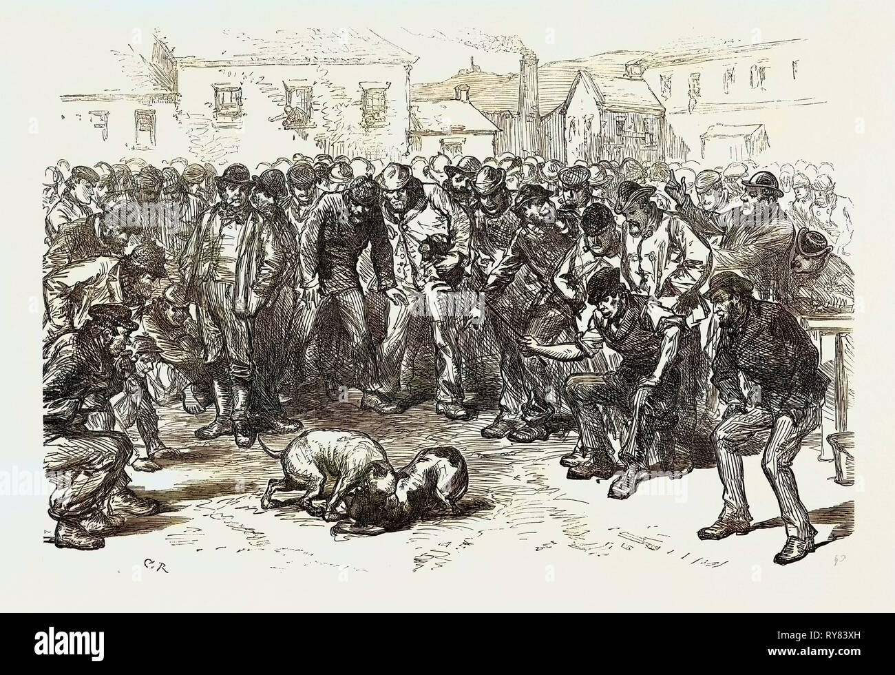 The Strike in South Wales: A Sunday's Amusement 1873 - Stock Image