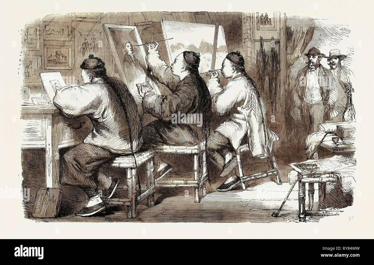 Chinese Artists China - Stock Image