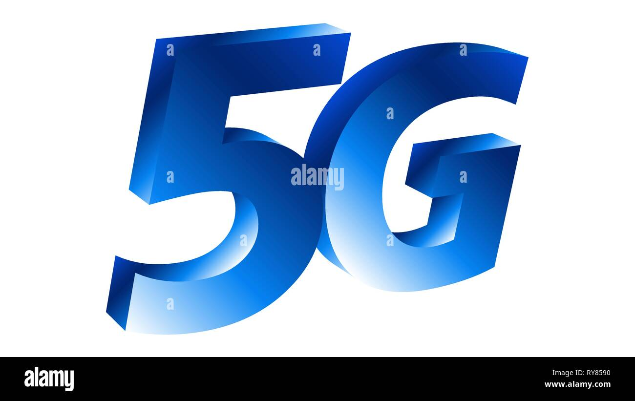 Fifth generation of wireless networking technology 5g - Stock Image