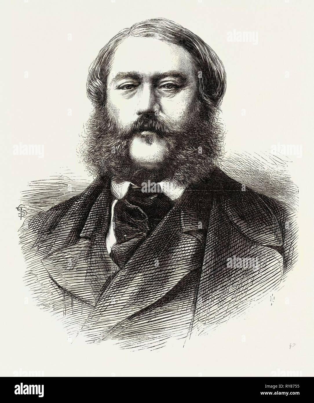 Sir Thomas Troubridge Bart. C.B. Deputy Adjutant-General 1867 - Stock Image