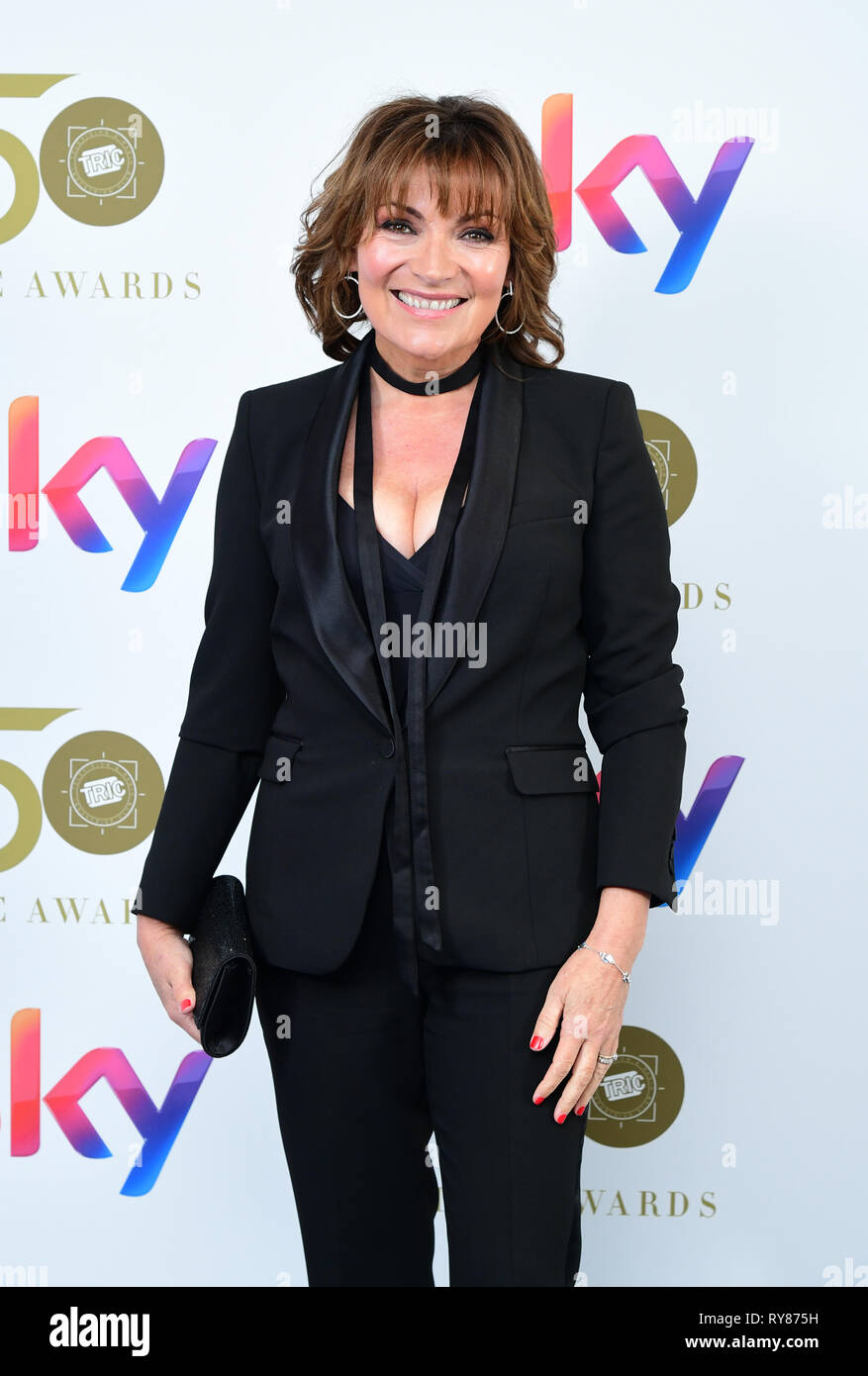Lorraine Kelly attending the TRIC Awards 2019 50th Birthday Celebration held at the Grosvenor House Hotel, London. - Stock Image