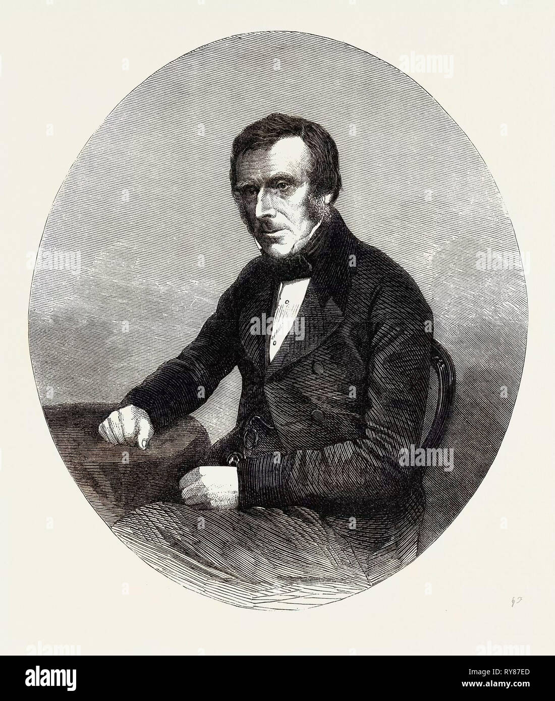 The Late Sir Benjamin Collins Brodie Bart. Serjeant-Surgeon to Queen Victoria - Stock Image