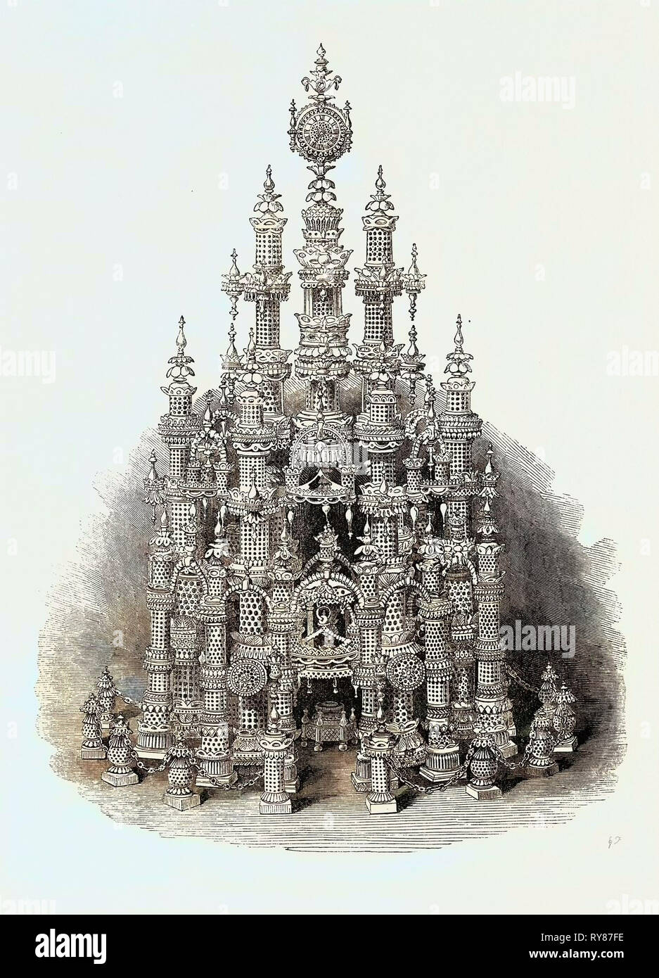 The International Exhibition: Temple of Art in Vegetable Ivory, 1862 - Stock Image