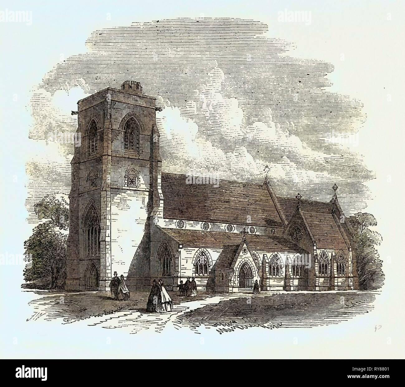 Benhilton Church Sutton Surrey UK 1866 - Stock Image