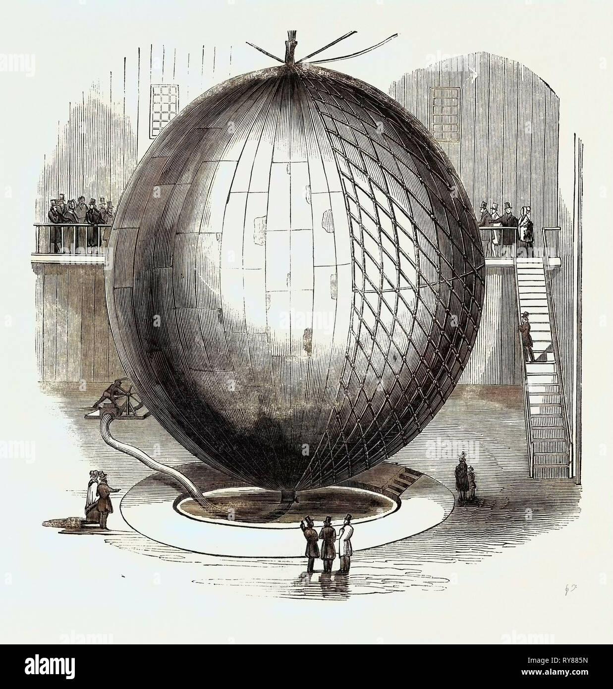 Immense Copper Balloon, at Paris - Stock Image