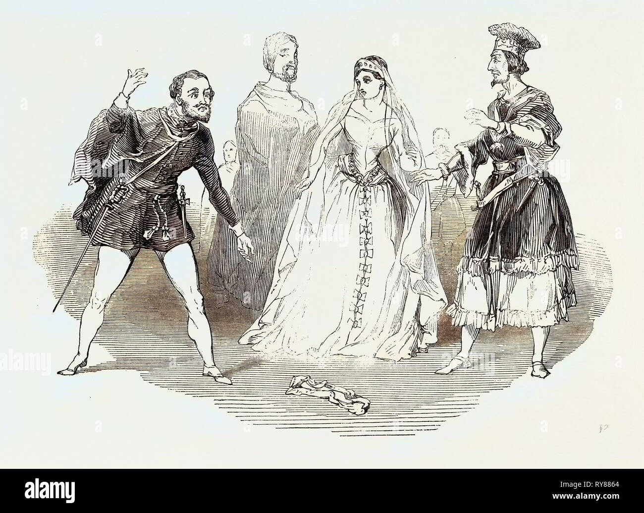 Scene from 'the Favorite,' at Drury-Lane Theatre - Stock Image