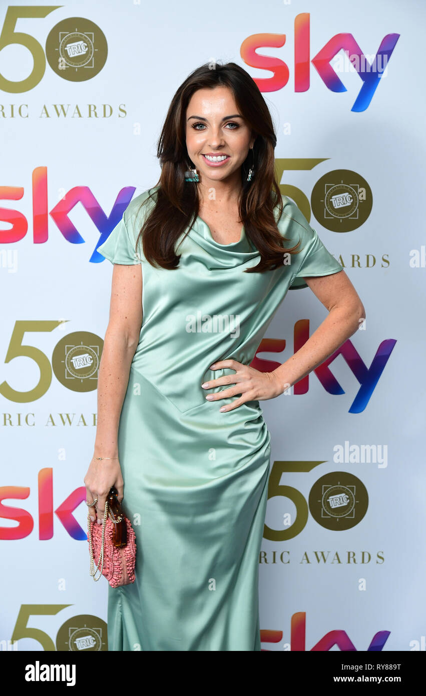 Louisa Lytton attending the TRIC Awards 2019 50th Birthday Celebration held at the Grosvenor House Hotel, London. - Stock Image