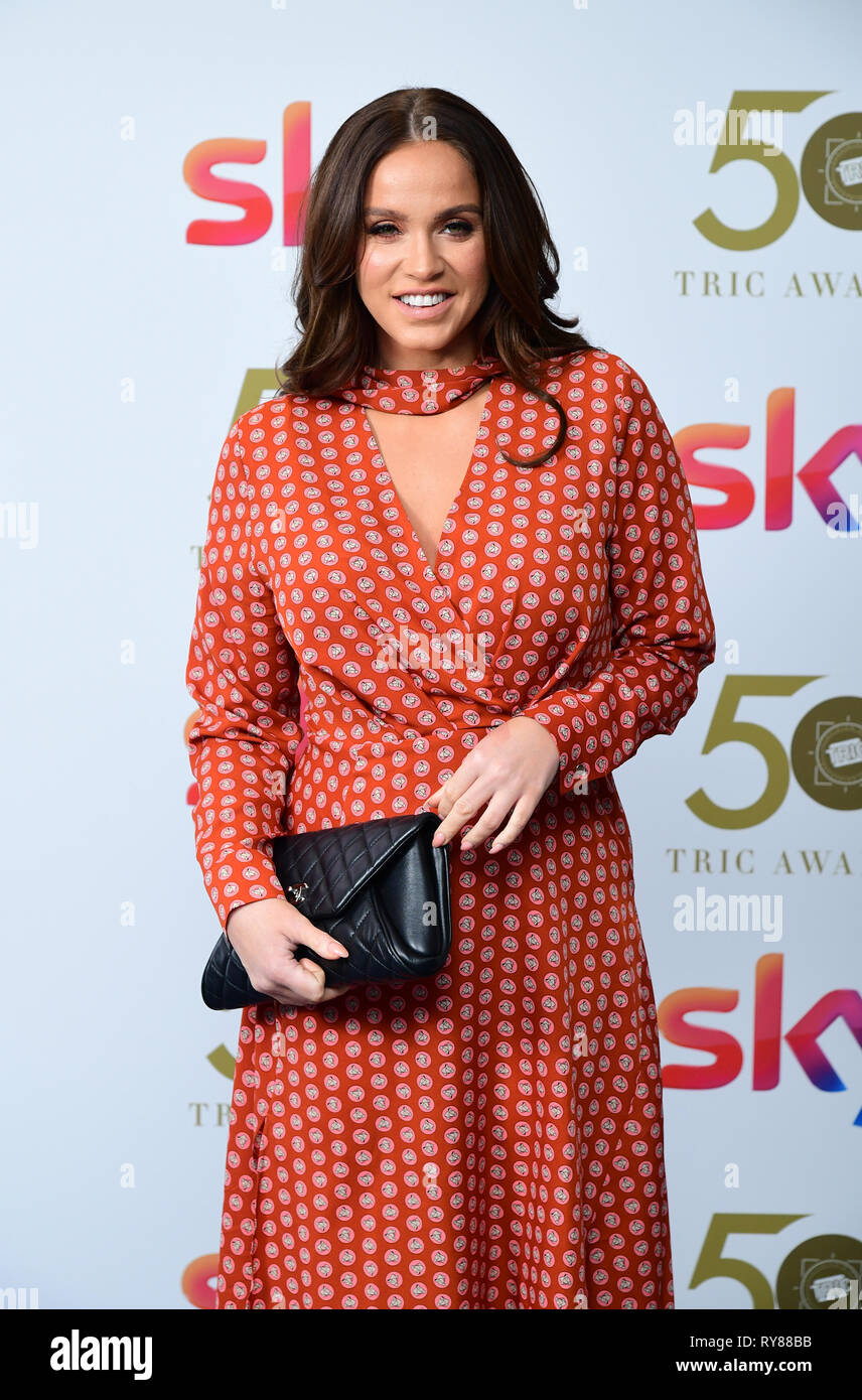 Vicky Pattison attending the TRIC Awards 2019 50th Birthday Celebration held at the Grosvenor House Hotel, London. - Stock Image