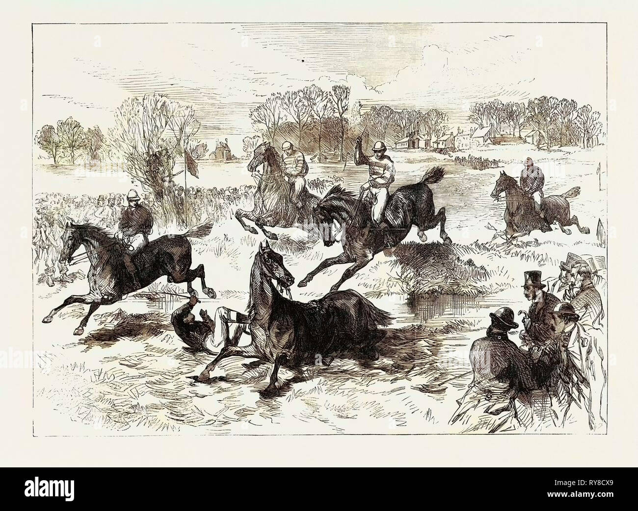 The Windsor Steeplechase 1869 Stock Photo