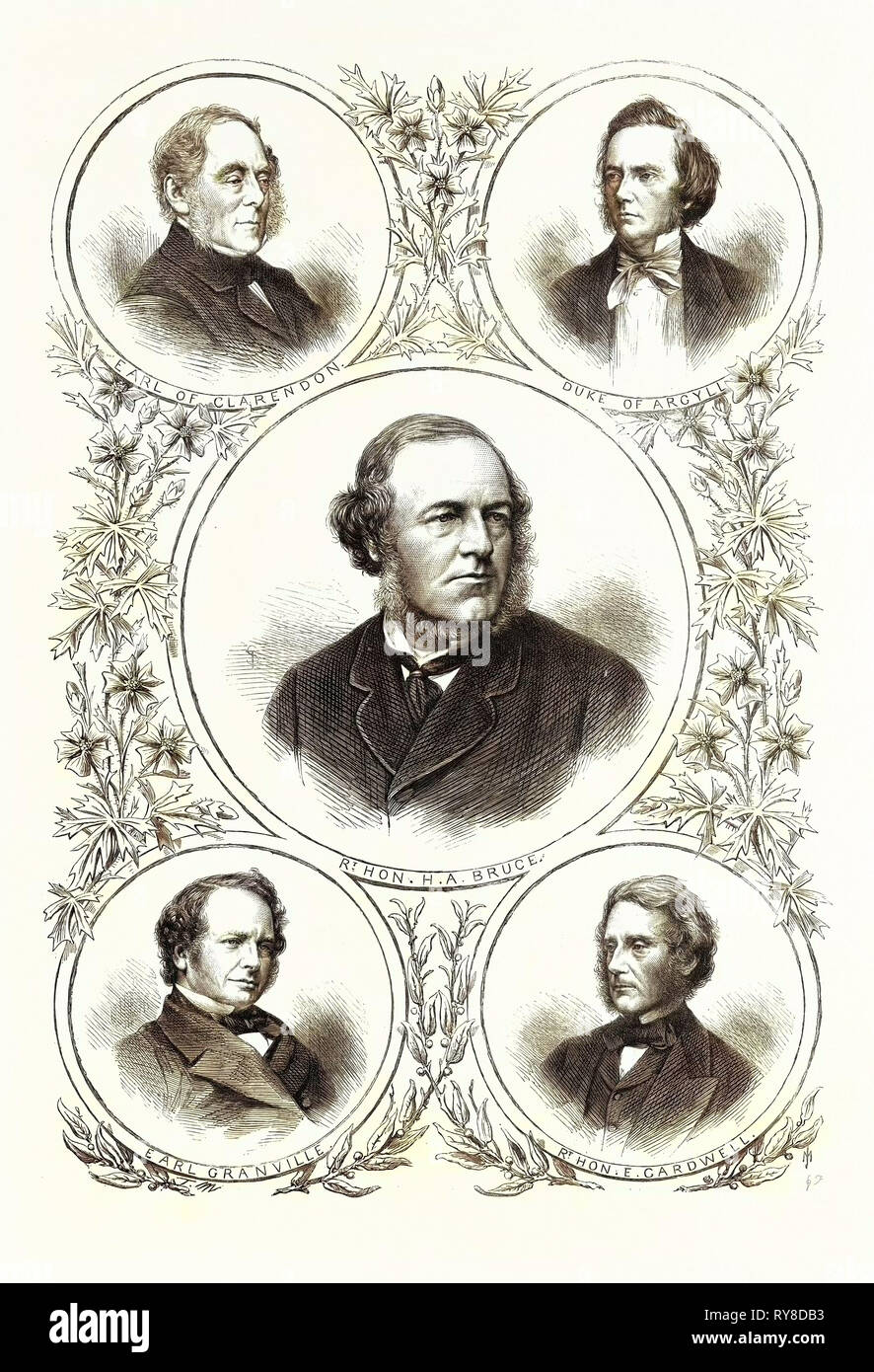 The New Ministry: The Secretaries of State 1869 - Stock Image