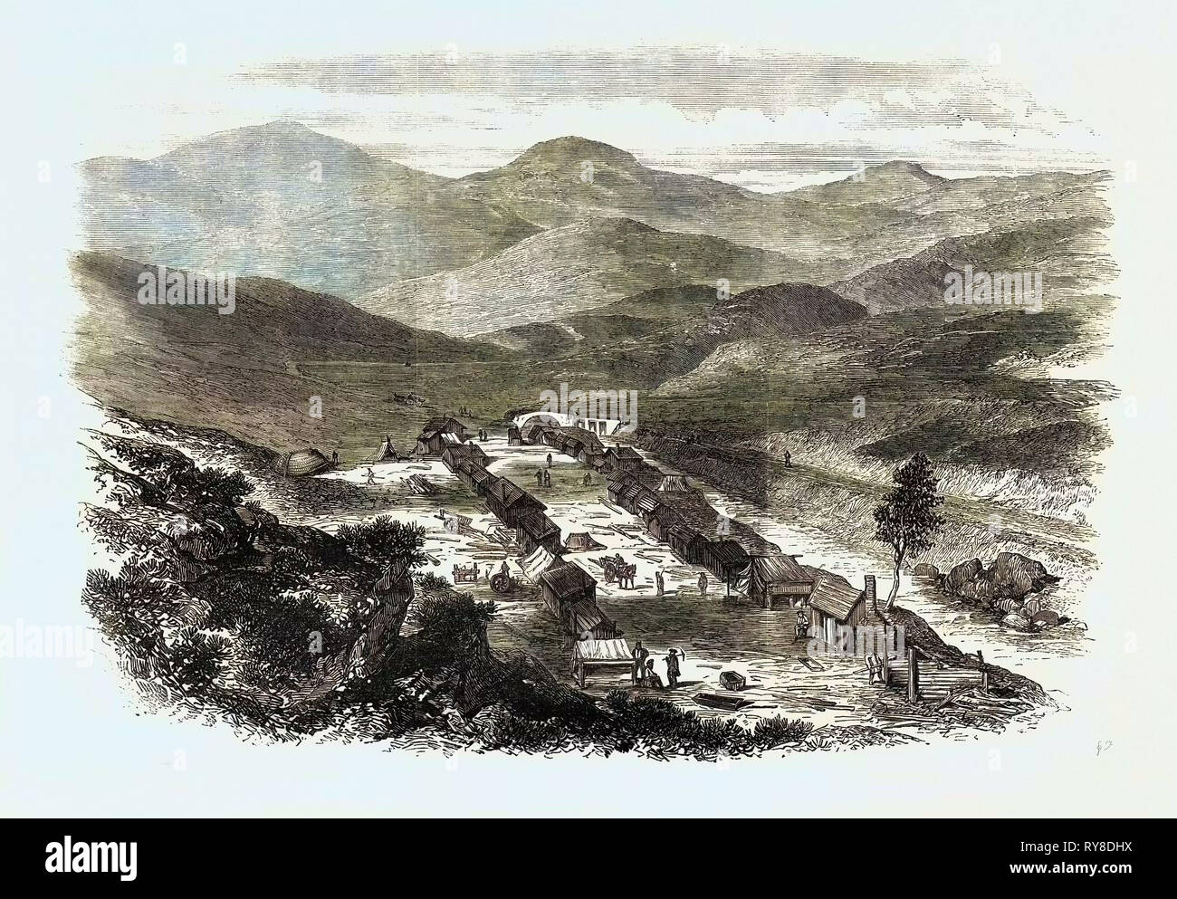 The Sutherlandshire Gold Diggings: Baile 'N Oir Kildonan 1869 Stock Photo