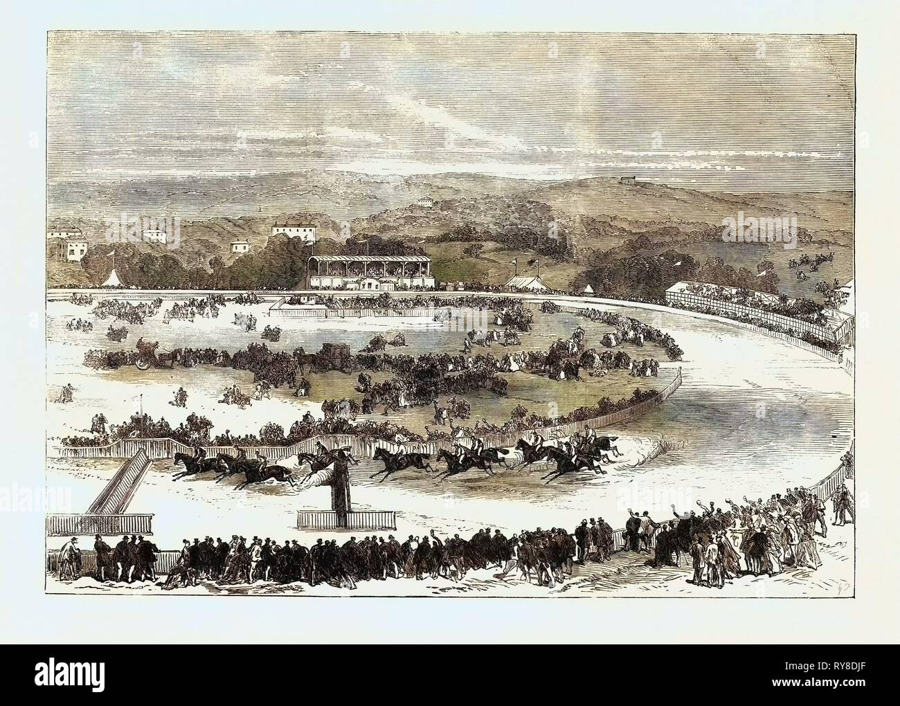 Cork Park Races: The Grand National Steeplechase 1869 Stock Photo