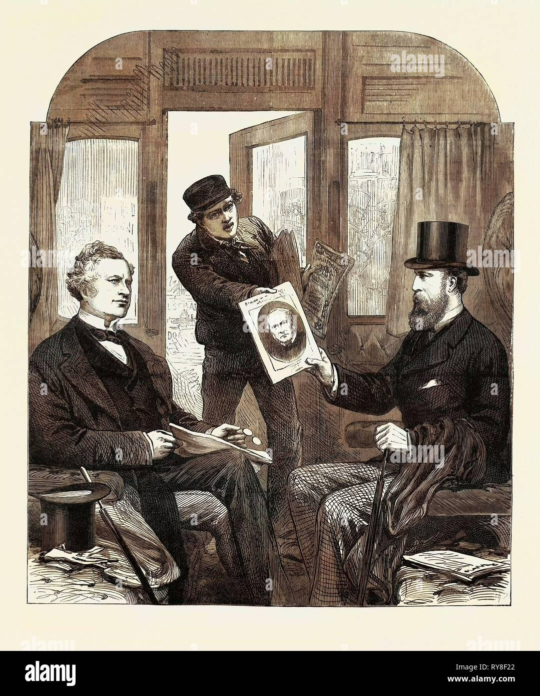 The Ministerial Crisis: A Sketch at the Great Western Railway Station Paddington Friday April 23 1880 - Stock Image