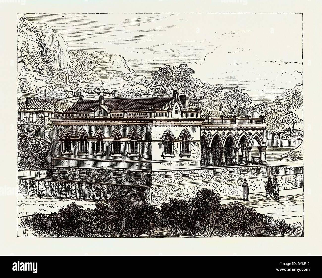 New Masonic Hall Koolangsu Amoy 1880 - Stock Image