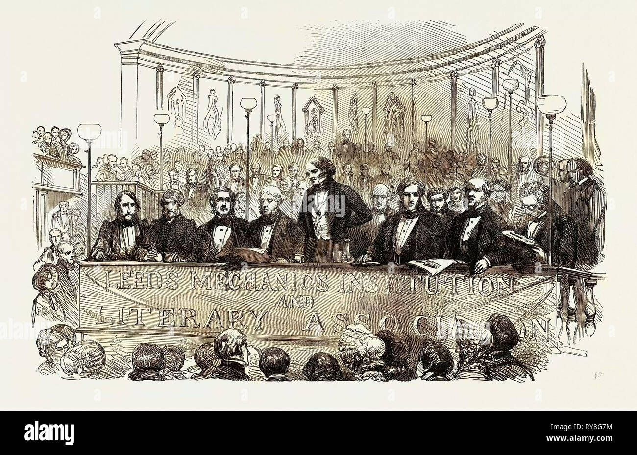 Lord John Russell at the Soiree of the Leeds Mechanics' Institution and Literary Society - Stock Image