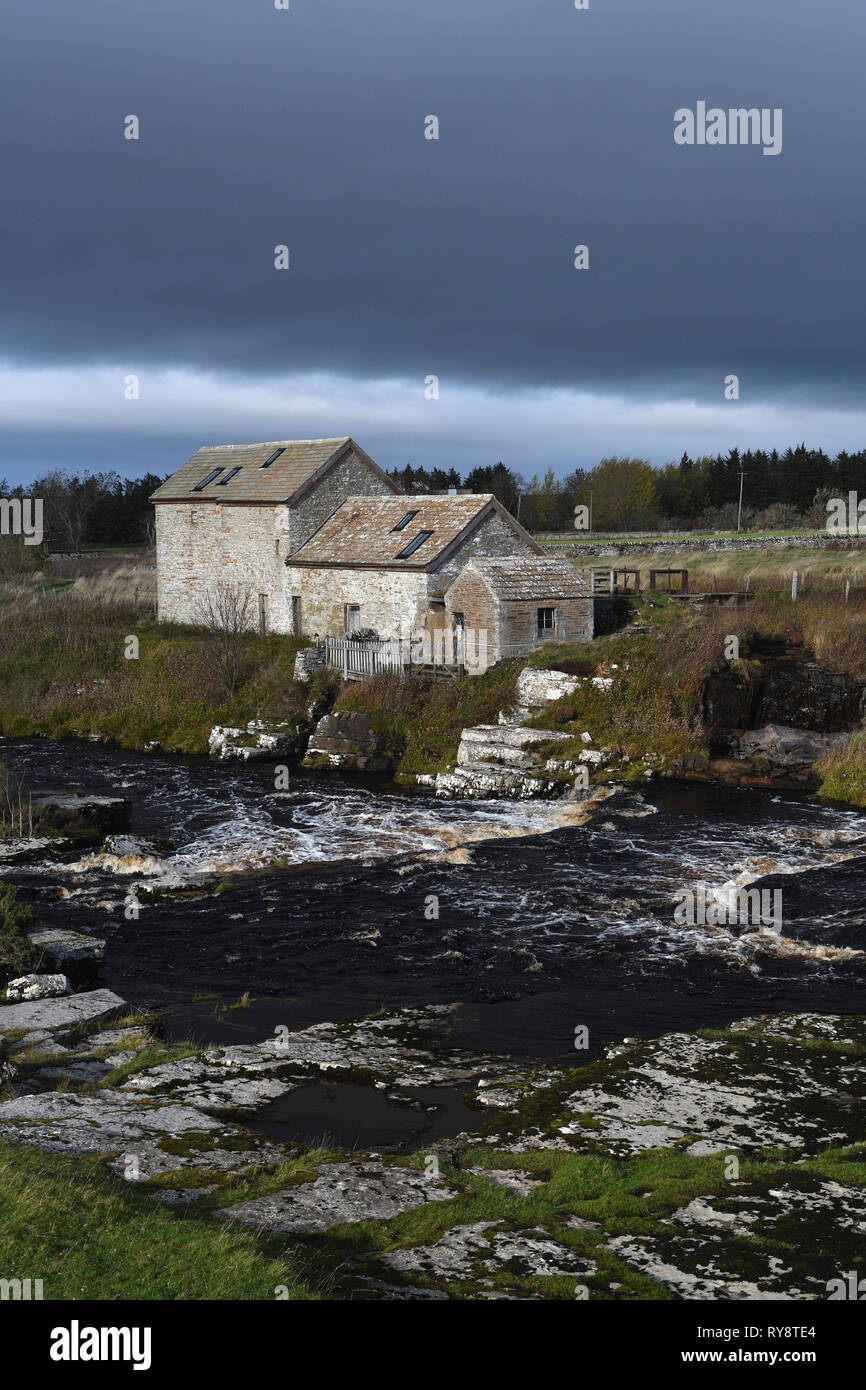 watermill;river thurso;caithness;scotland - Stock Image