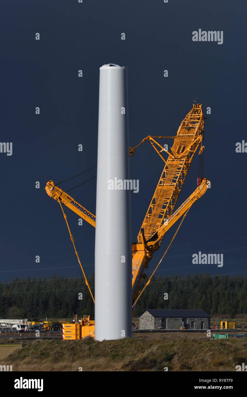 windfarm;under construction;off A9;caithness;scotland - Stock Image