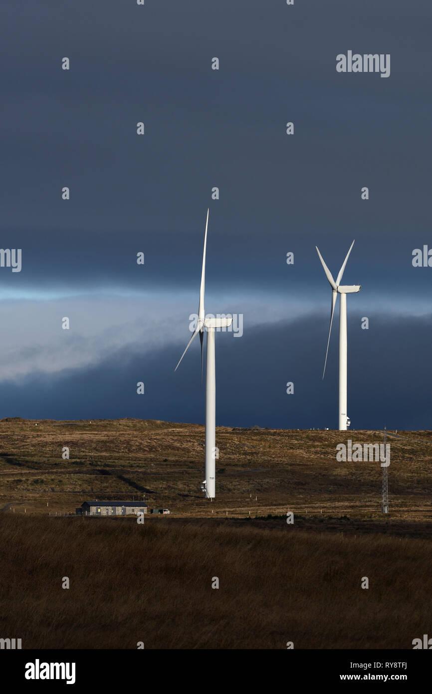 windfarm;mid-clyth;off A99;caithness;scotland - Stock Image
