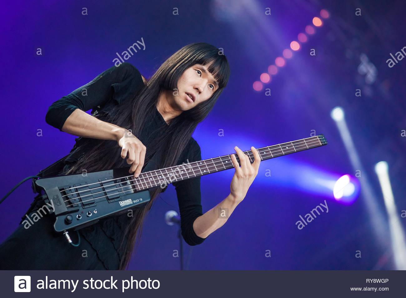 BO NINGEN performing live, 13 july 2015 Stock Photo