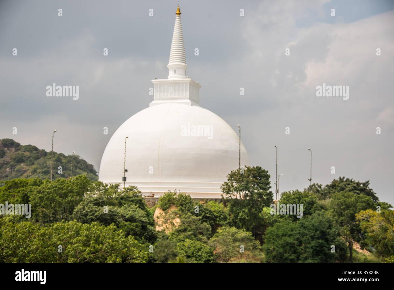 Asia, Sri Lanka, Mihintale, Maha Stupa Stock Photo