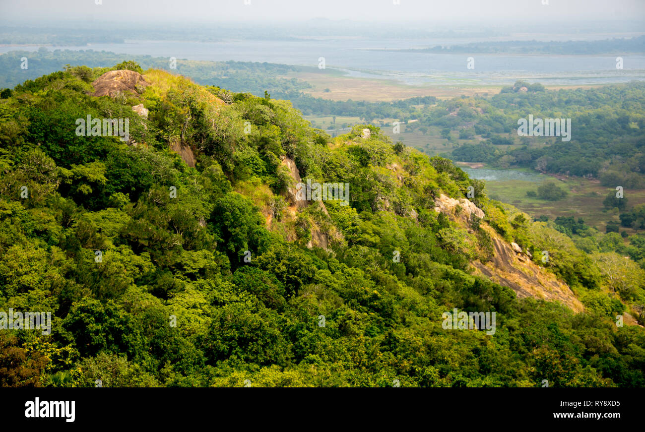 Asia, Sri Lanka, Mihintale, Aradhana Gala lookout Stock Photo