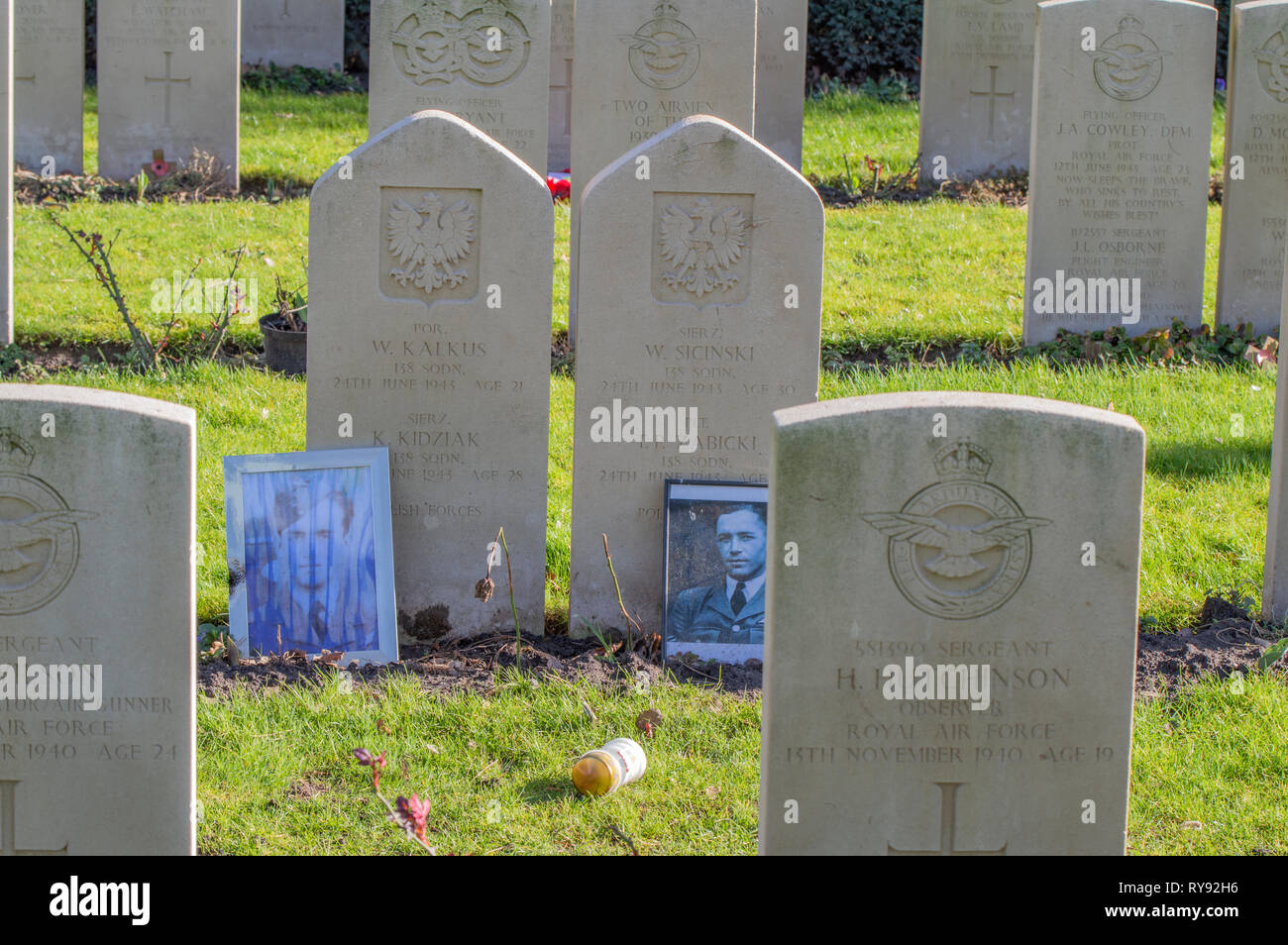 Photos At The Military Graveyard At The Nieuwe Ooster Amsterdam The Netherlands 2019 - Stock Image