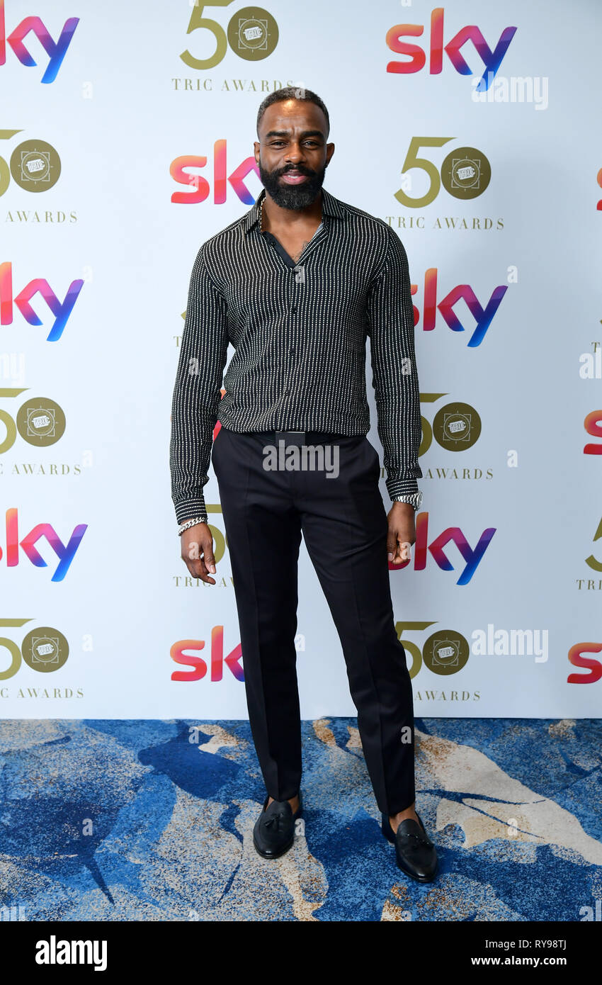 Charles Venn attending the TRIC Awards 2019 50th Birthday Celebration held at the Grosvenor House Hotel, London. - Stock Image