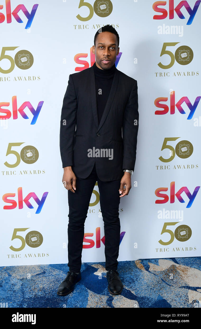 Lemar attending the TRIC Awards 2019 50th Birthday Celebration held at the Grosvenor House Hotel, London. - Stock Image