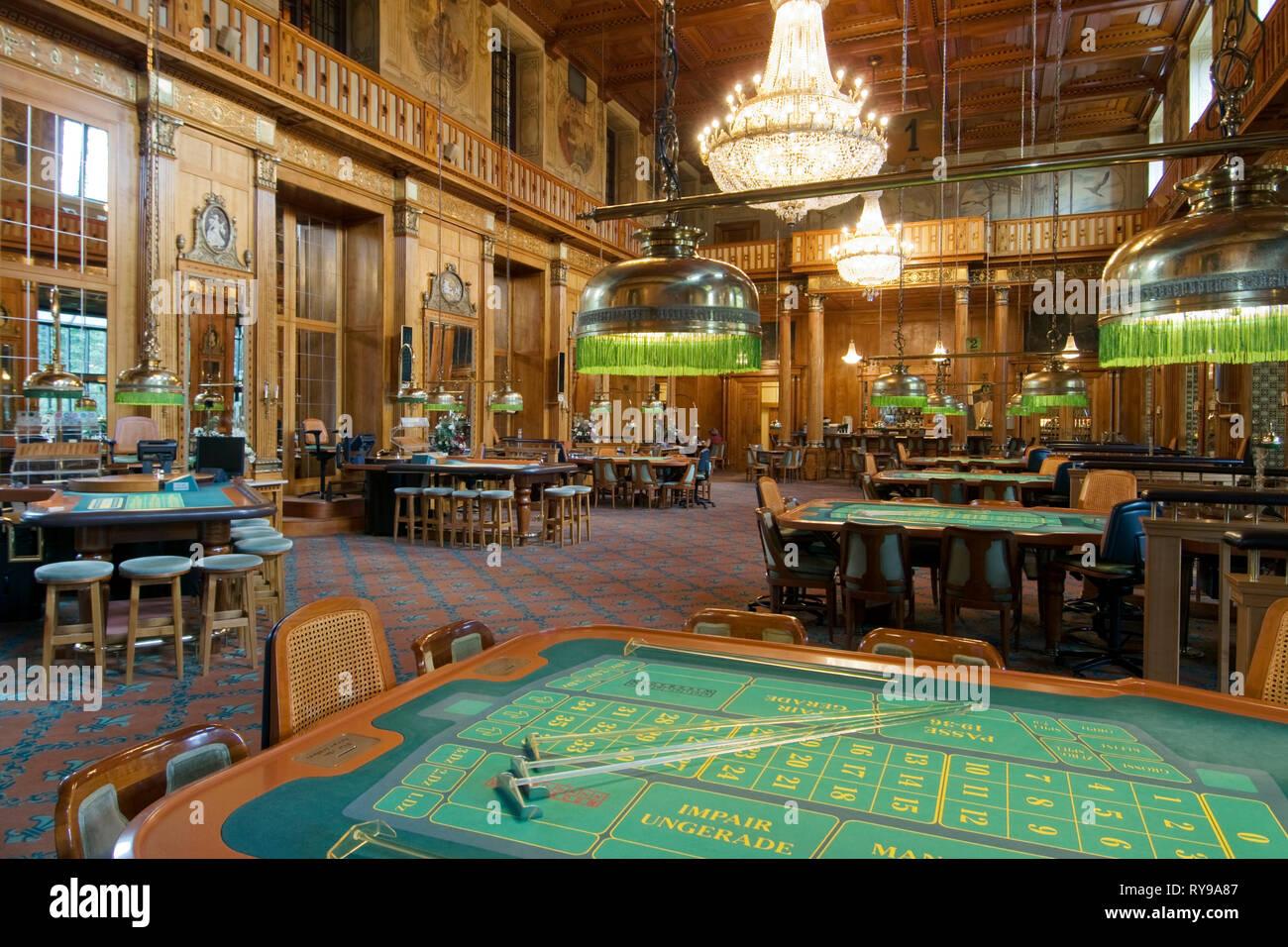 BRD, Hessen, Wiesbaden, in der Spielbank spielte auch einst Dostojewski - Stock Image