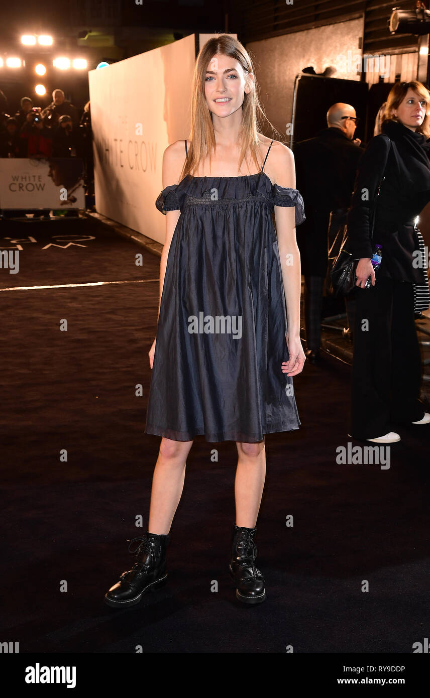 Eve Delf attending The White Crow UK Premiere held at the Curzon Mayfair, London. - Stock Image