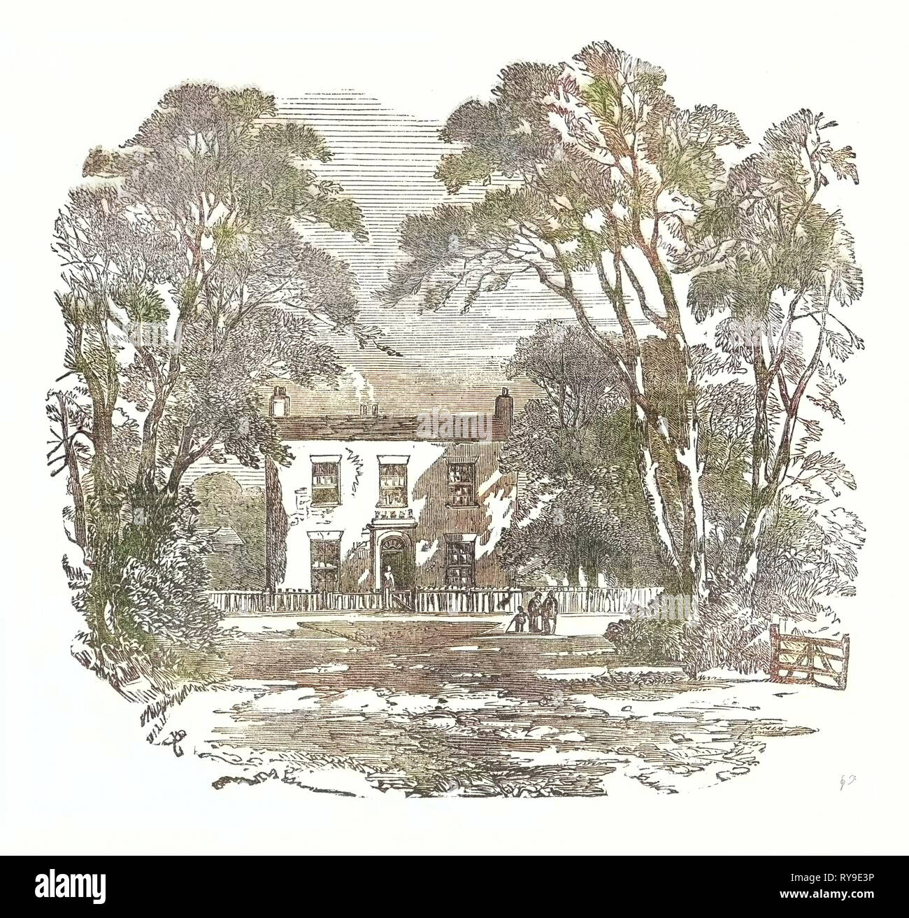 Miss Mitford's Cottage, Swallowfield, Berks. UK, Britain, British, Europe, United Kingdom, Great Britain, European. Mary Russell Mitford, 16 December 1787  10 January 1855, Was an English Author and Dramatist - Stock Image