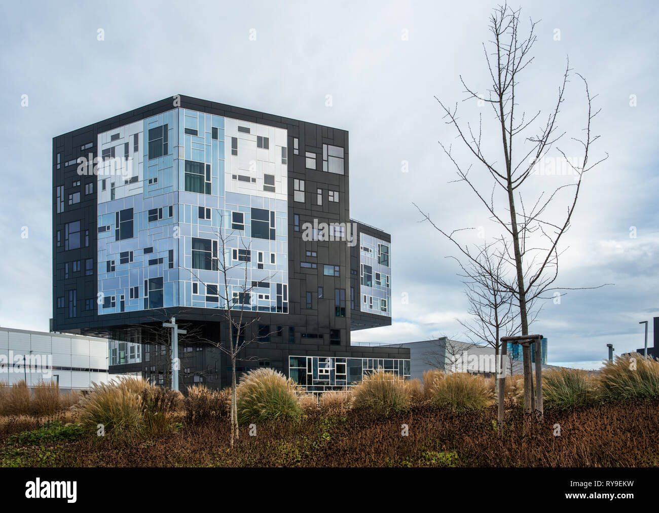 University of Economics and Business - Executive Academy building in Leopoldstadt Vienna Austria Europe - Stock Image