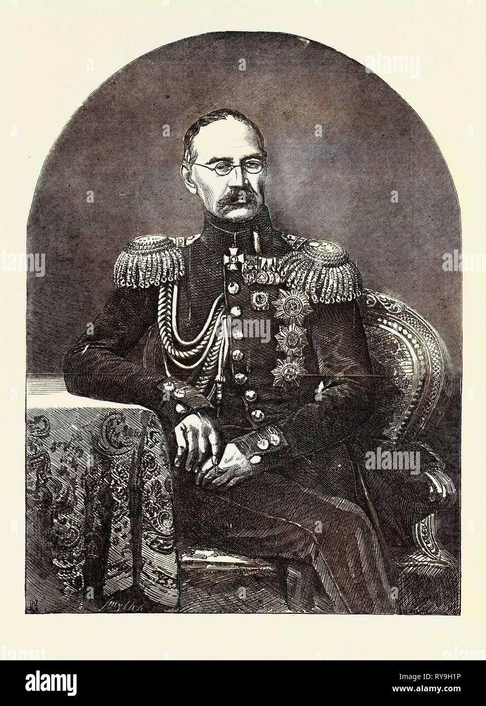 Prince Gortshakoff, Commander-in-Chief of the Russian Army in the Crimea - Stock Image