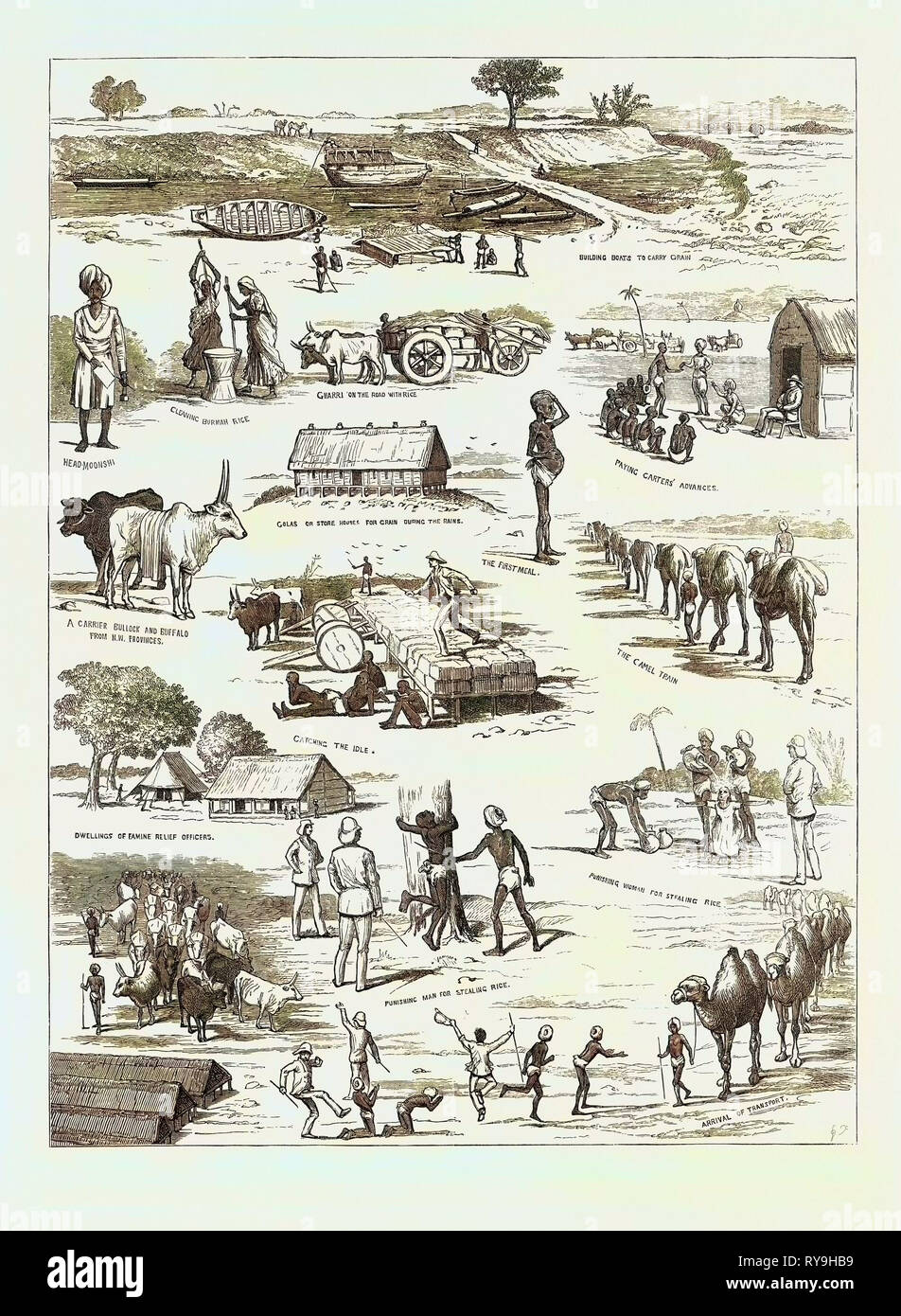The Indian Famine, Sketches in the Affected Districts, by a Member of the Famine Relief Staff - Stock Image