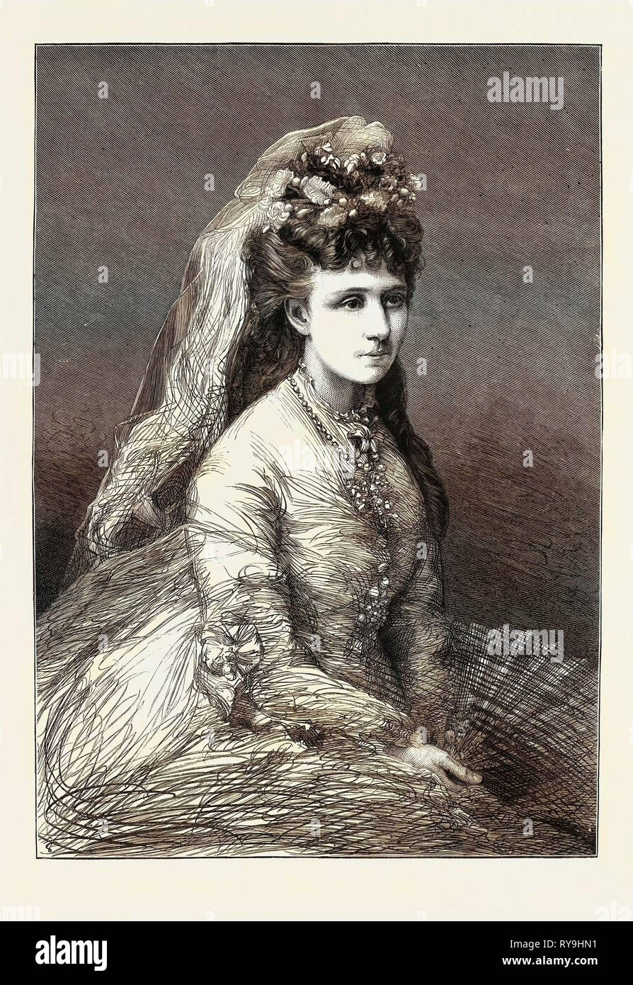 The Civil War in Spain, the Infanta Doña Maria De Las Nieves, Wife of Don Alphonso, Commonly Known As Doï'a Blanca, the Carlist Leader Stock Photo