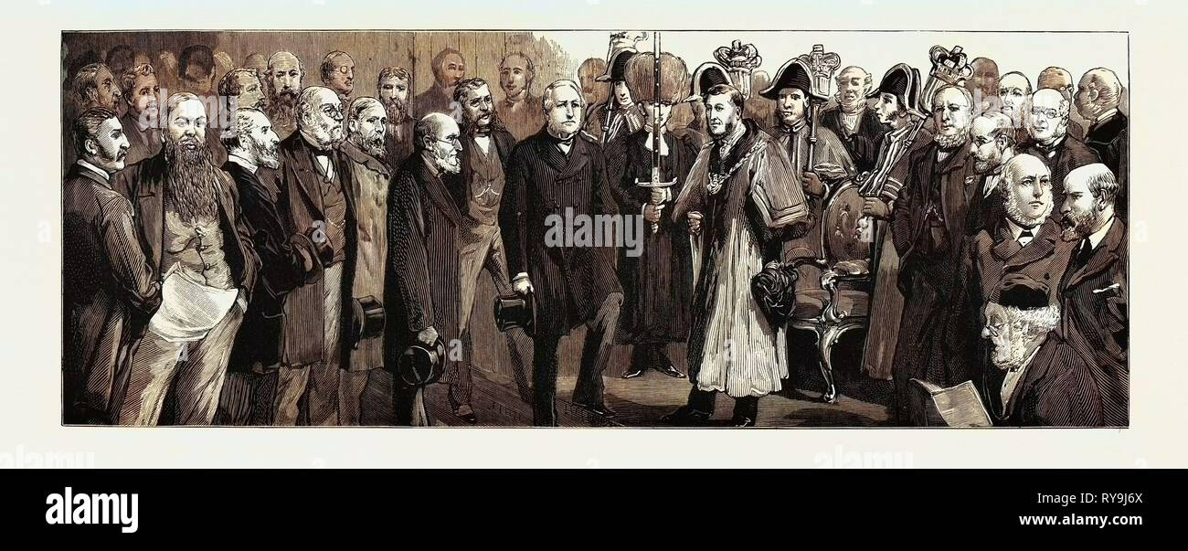 The Meeting of the Associated Chambers of Commerce at Gloucester - Stock Image